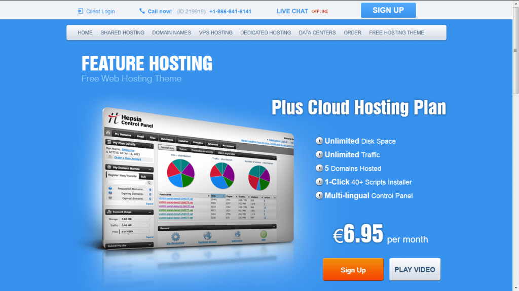 Feature Hosting Free Theme