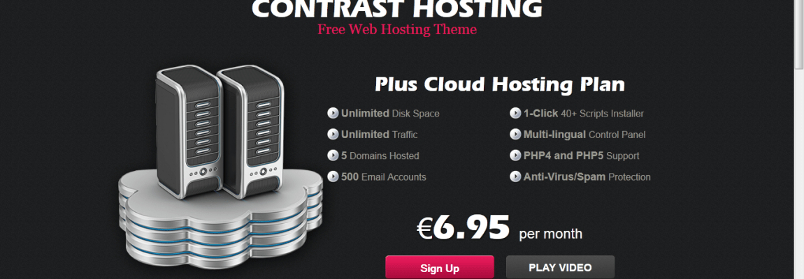 Contrast Hosting – free WordPress theme