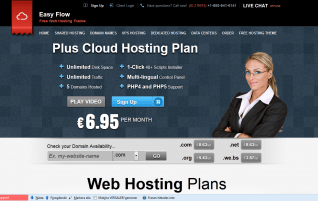 Easy Flow Hosting – free WordPress theme