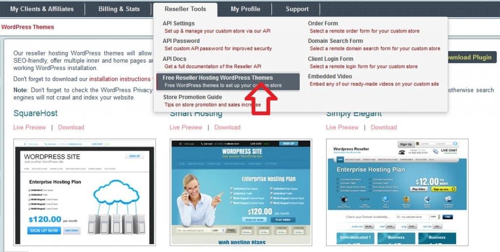 Download hosting theme